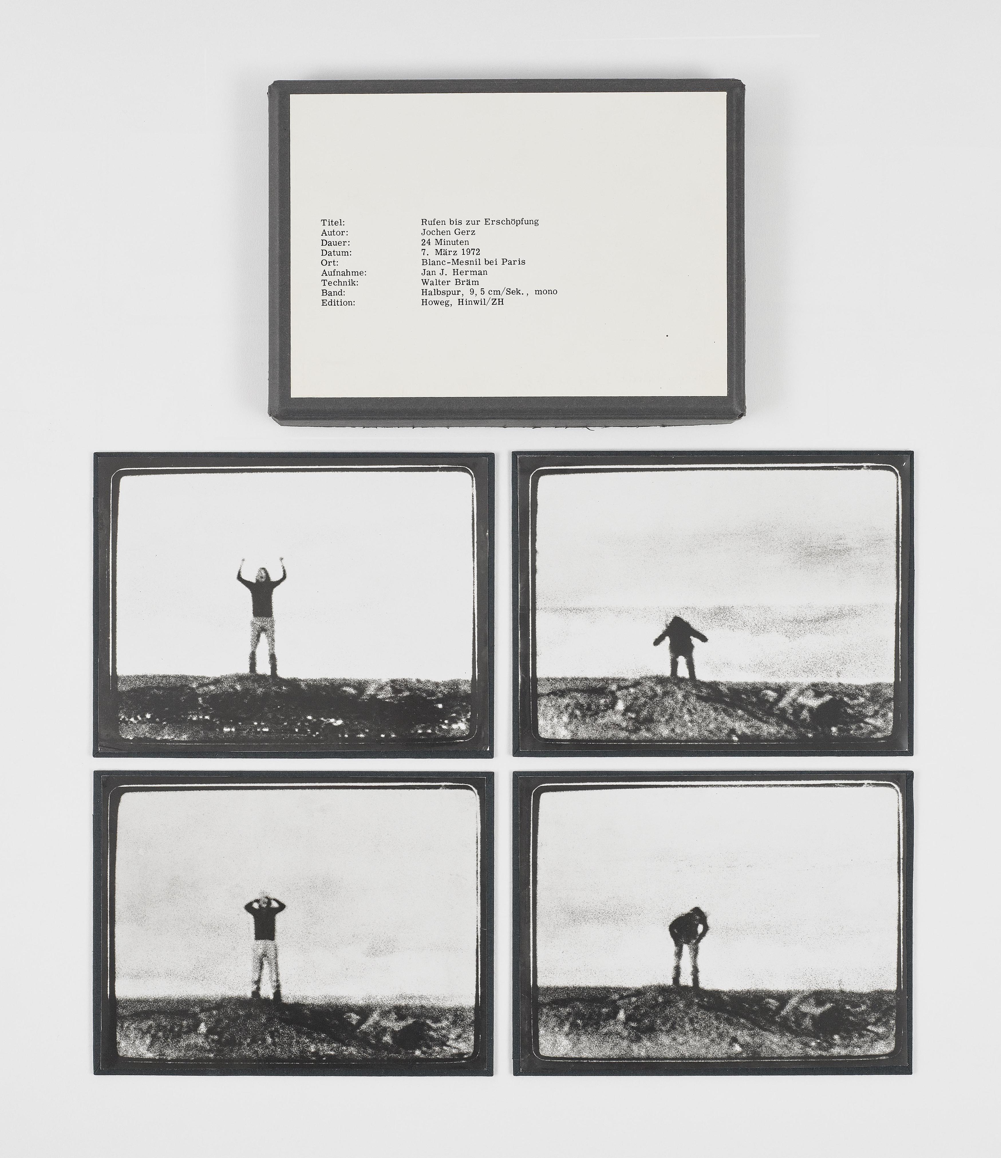 Jochen Gerz-Rufen Bis Zur Erschopfungedition Howeg, Hinwil/Zurich (Calling until exhausted. Howeg Edition, Hinwil/Zurich)-1972