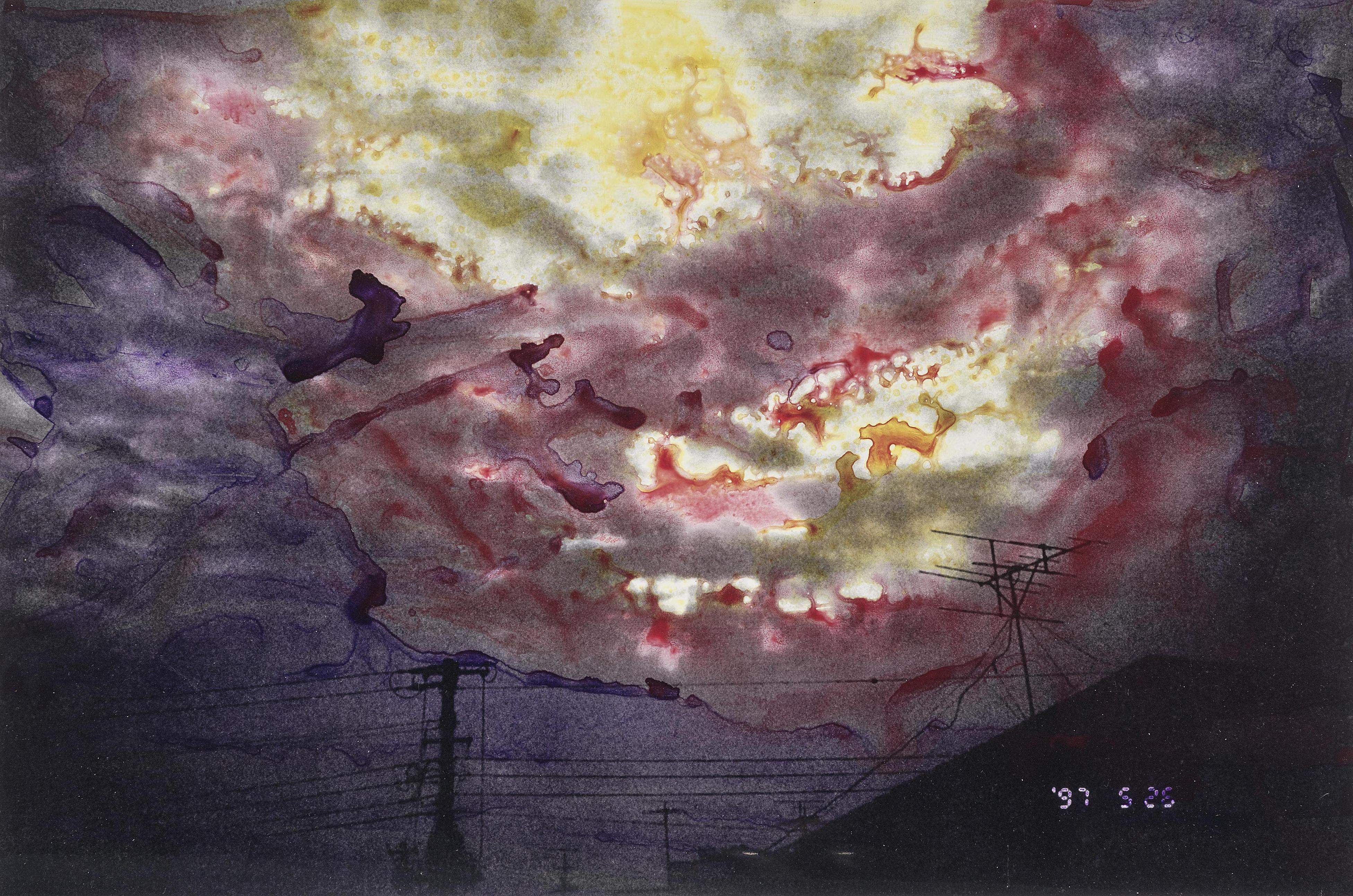 Nobuyoshi Araki-Ohne Titel (From Skyscape Series)-1997