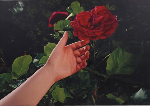Mustafa Hulusi-Untitled (Red Rose And Hand)-2005