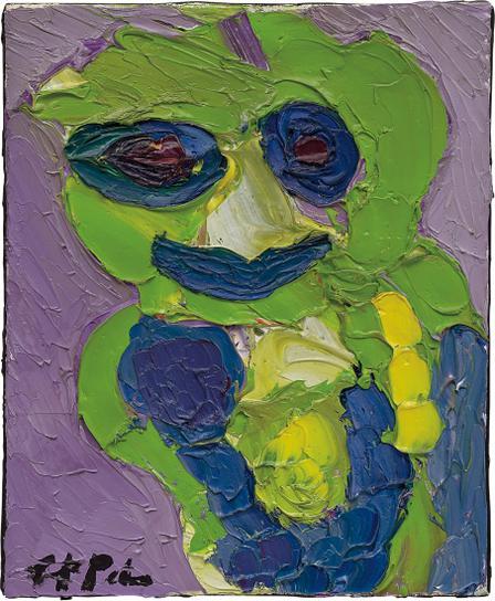 Karel Appel-Juffertje In Het Groen-1985