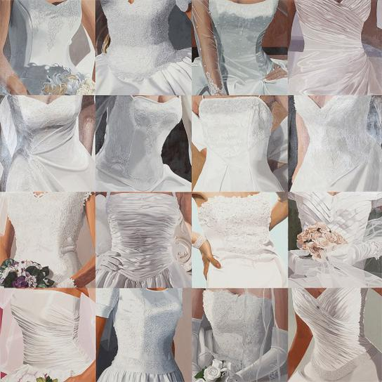 Julia Jacquette-White On White (Sixteen Wedding Dresses) Iii-2005