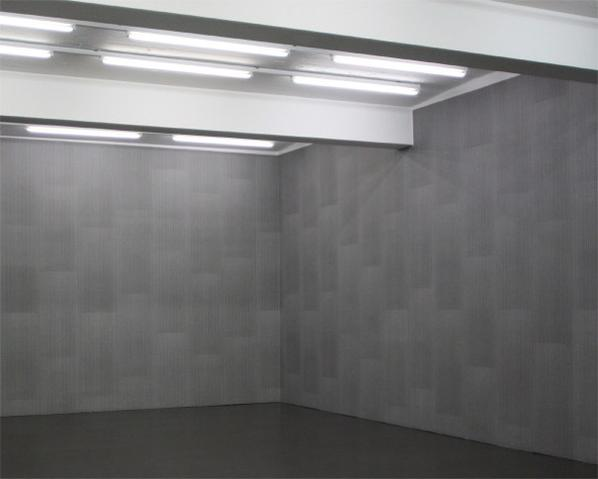 Stefan Bruggemann-Conceptual Decoration (Wallpaper White On Black)-2009