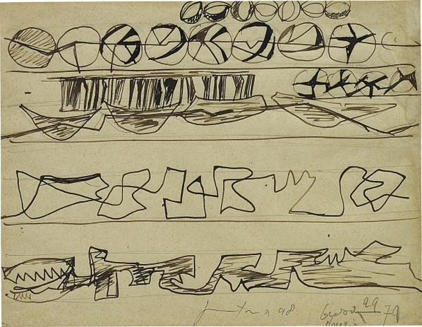 Lucio Fontana-Studi Per Decorazione Spaziale-1948