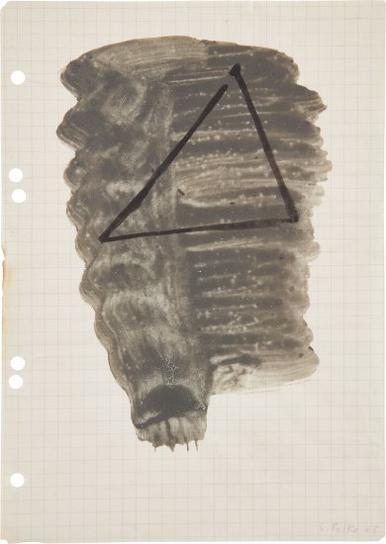 Sigmar Polke-Ohne Titel (Dreieck)-1968