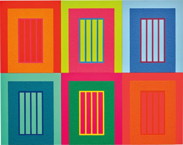 Peter Halley-Six Prisons-2009