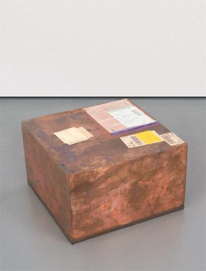 Walead Beshty-Fedex® Kraft Box ©2005 Fedex 157872 10/05 Sscc, International Priority, Los Angeles- Bruxelles Trk#861718438271, August 31 - September 2, 2011, International Priority Bruxelles- Paris Trk#874126027768, September 9-2011