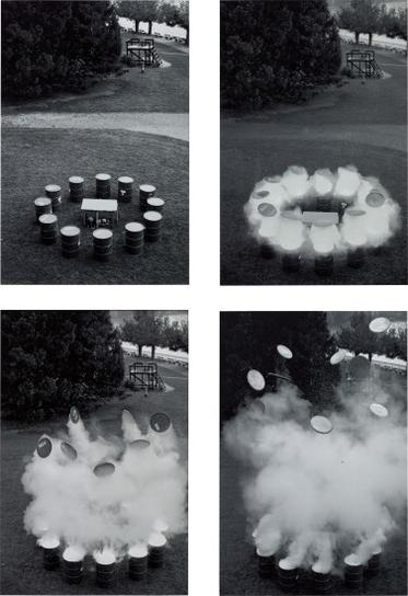 Roman Signer-Aktion Mit Fassern-1992