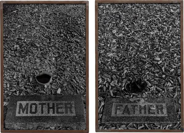 Sophie Calle-Les Tombes Mother, Father-1990