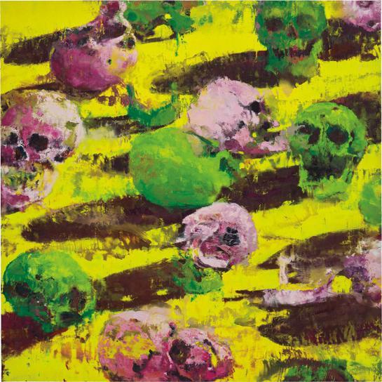 Philippe Cognee-Yellow Skulls-2009