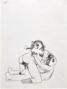 George Condo-Adam And Eve-2007