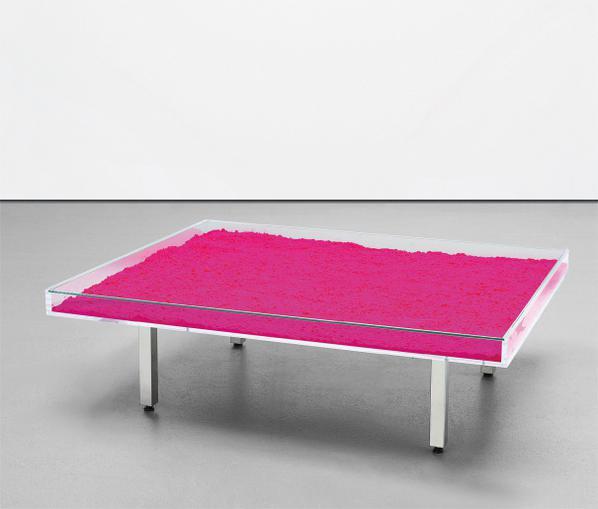 Yves Klein-Table Rose-1961