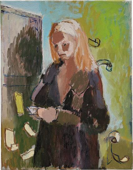 Neal Tait-Woman Reading Her Visa Statement-2006