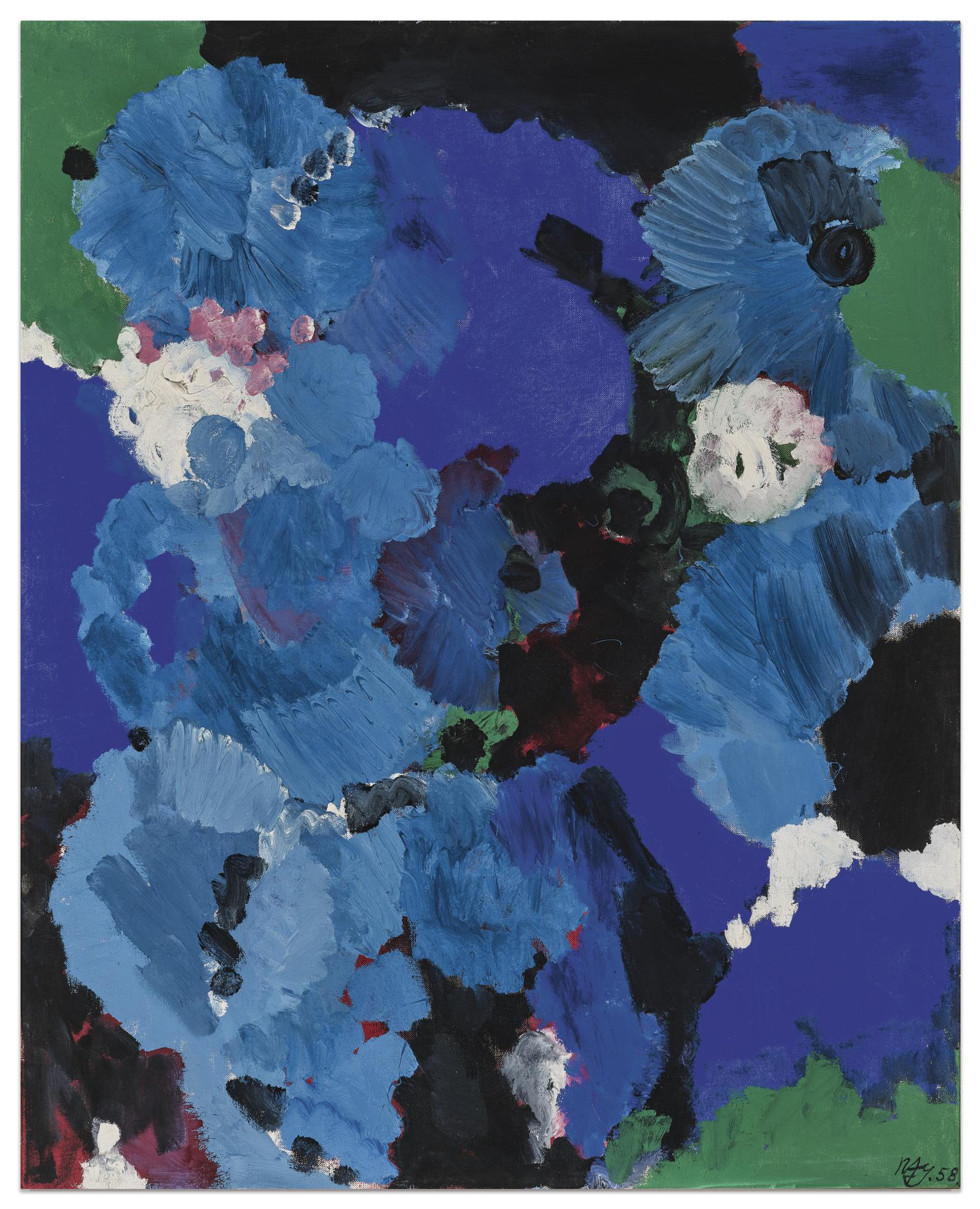 Ernst Wilhelm Nay-Bleu Royal-1958