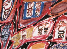 Jean Dubuffet-Site Avec 7 Personnages-1981