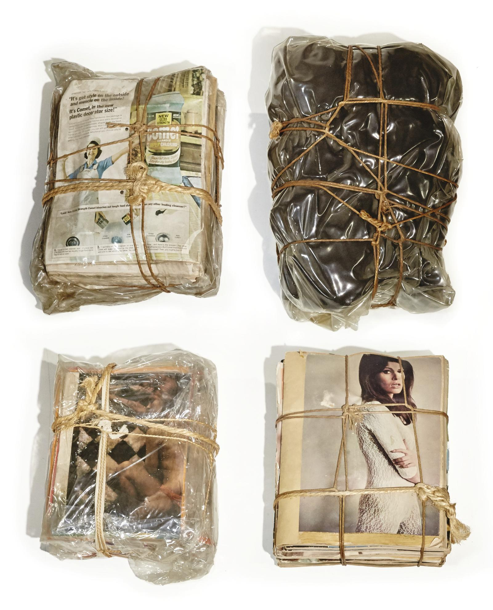 Christo and Jeanne-Claude-Wrapped Magazines And Package-1967