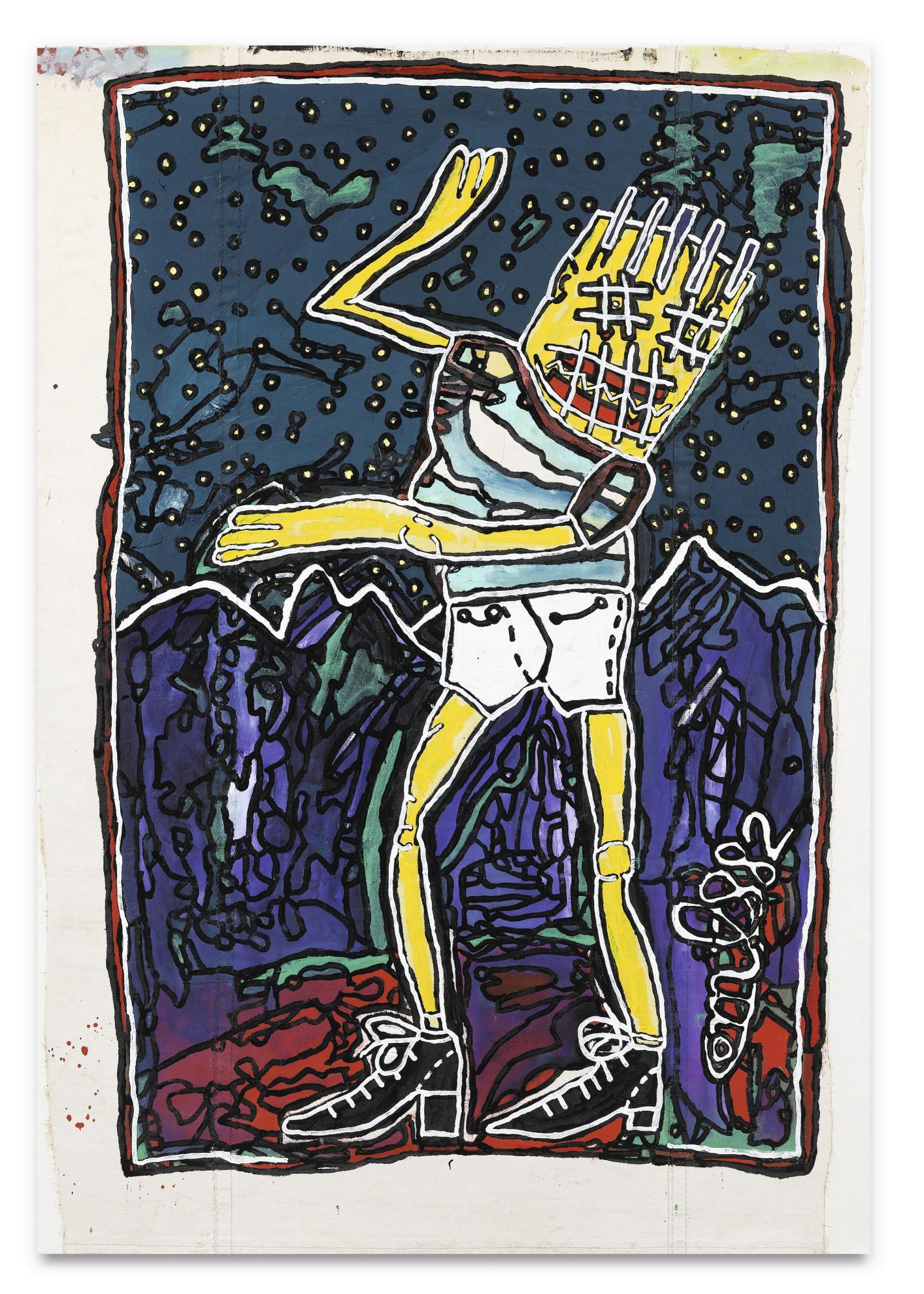 Robert Combas-Tuer Dans La Nuit De Campagne-1982