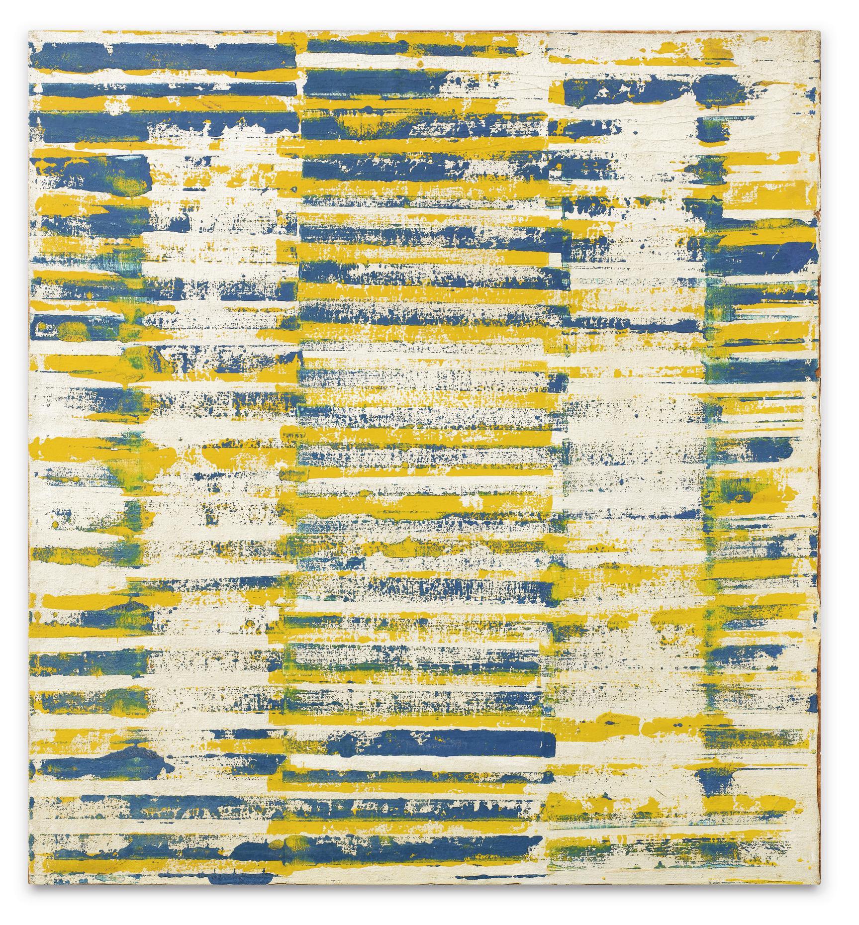Jean-Pierre Pincemin-Composition Bleue Et Jaune-1967
