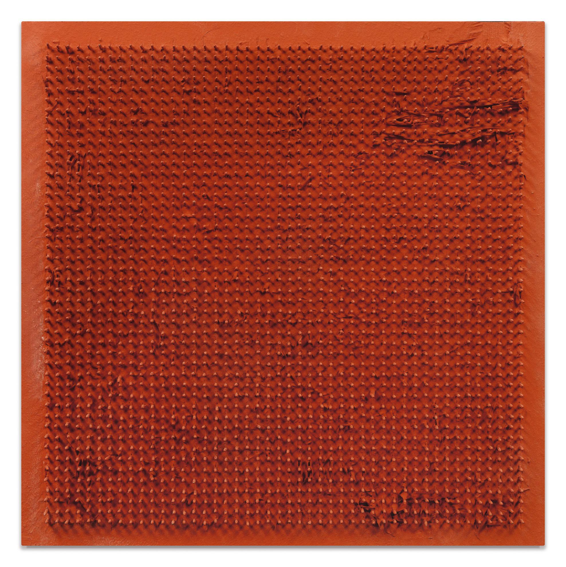 Bernard Aubertin-Tableau Clous-1970