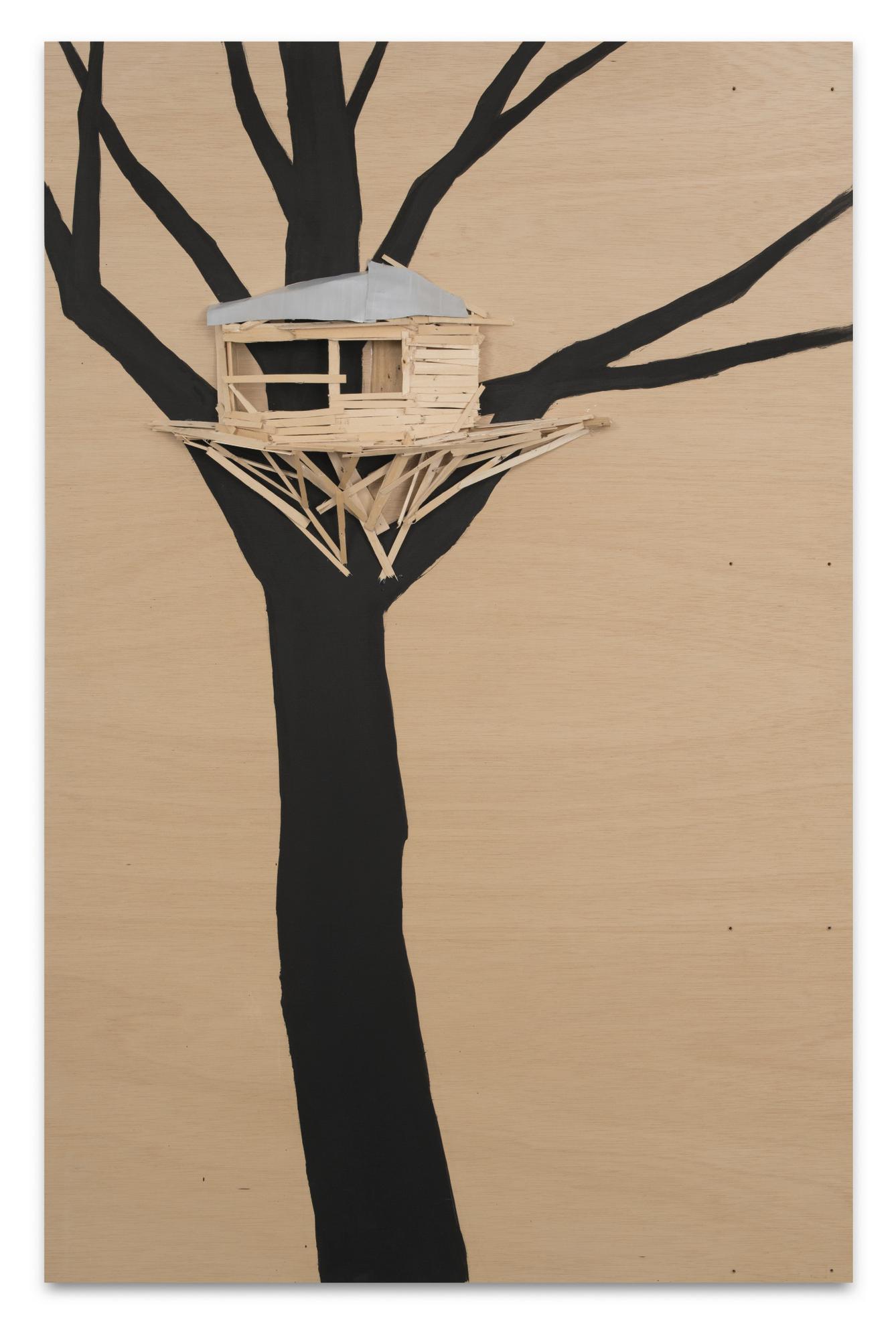 Tadashi Kawamata-Tree Hut In Tuileries-2011