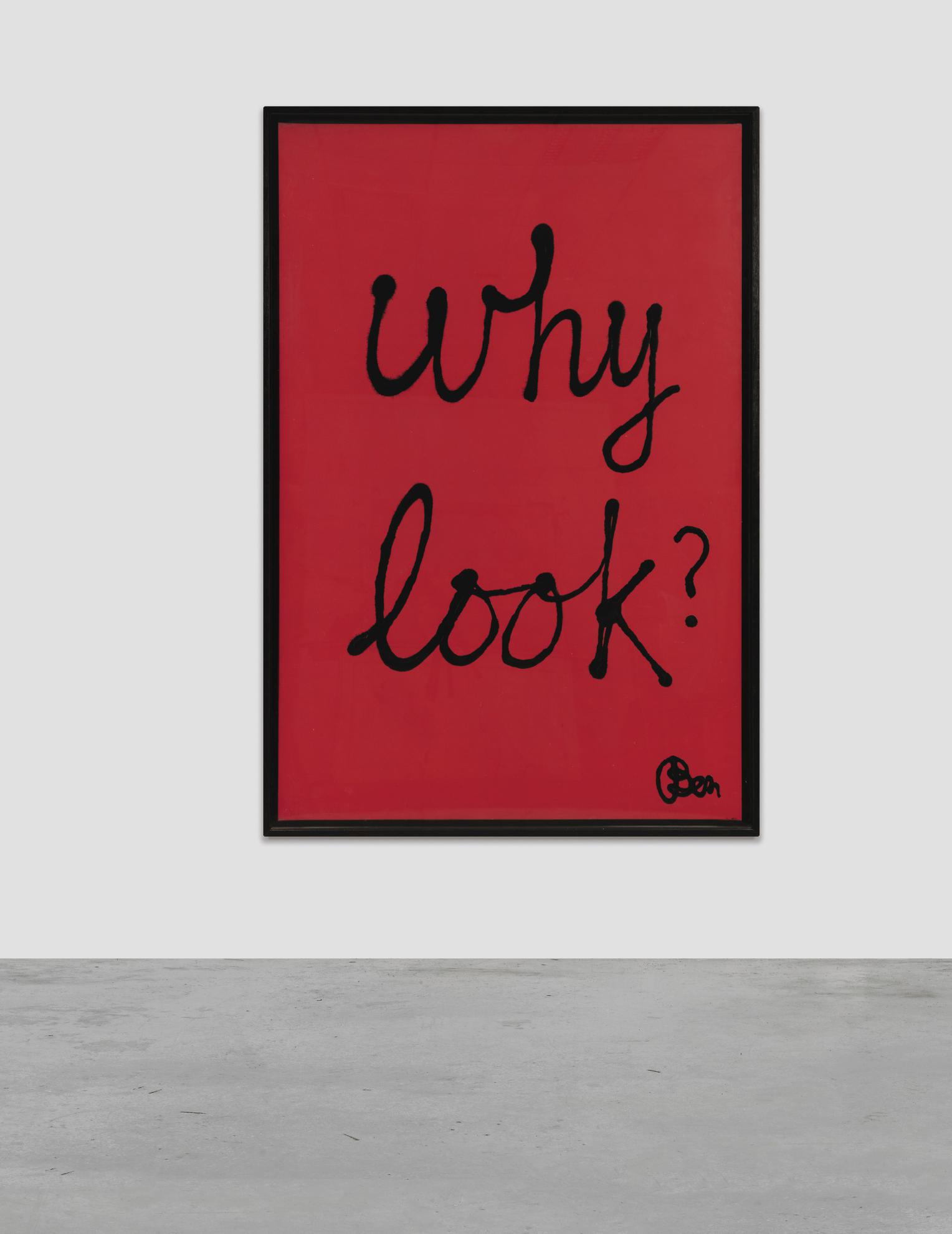 Ben Vautier-Why Look?-1981