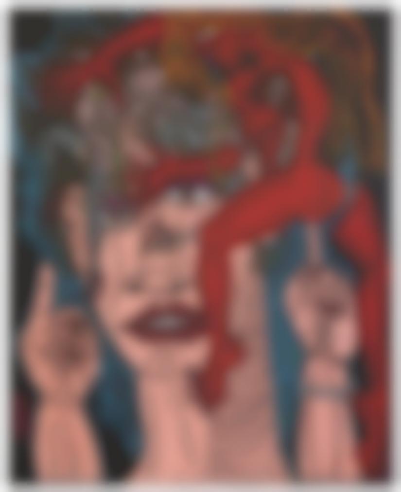 Robert Combas-Un Et Un Font Deux Cerveaux Plein De Reves Sexuels-1996