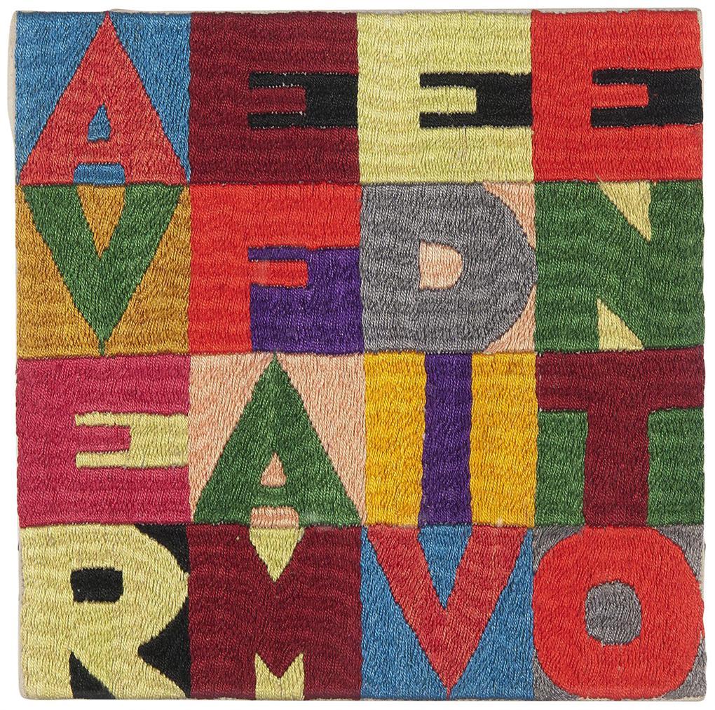Alighiero Boetti-Avere Fame Di Vento-1978