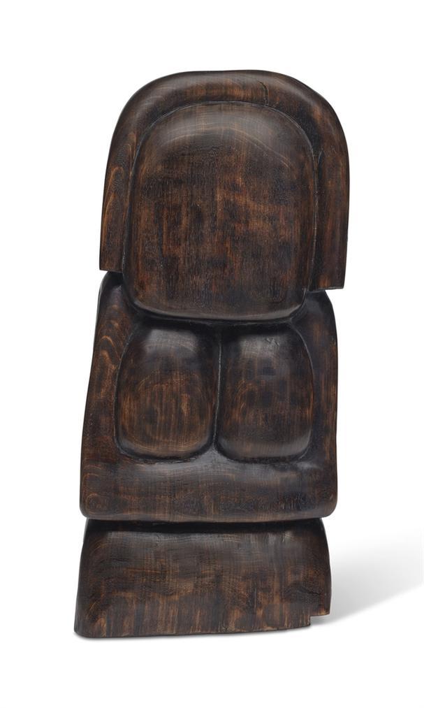 Wang Keping-Sans Titre (Petite Femme Bas-Relief)-1989
