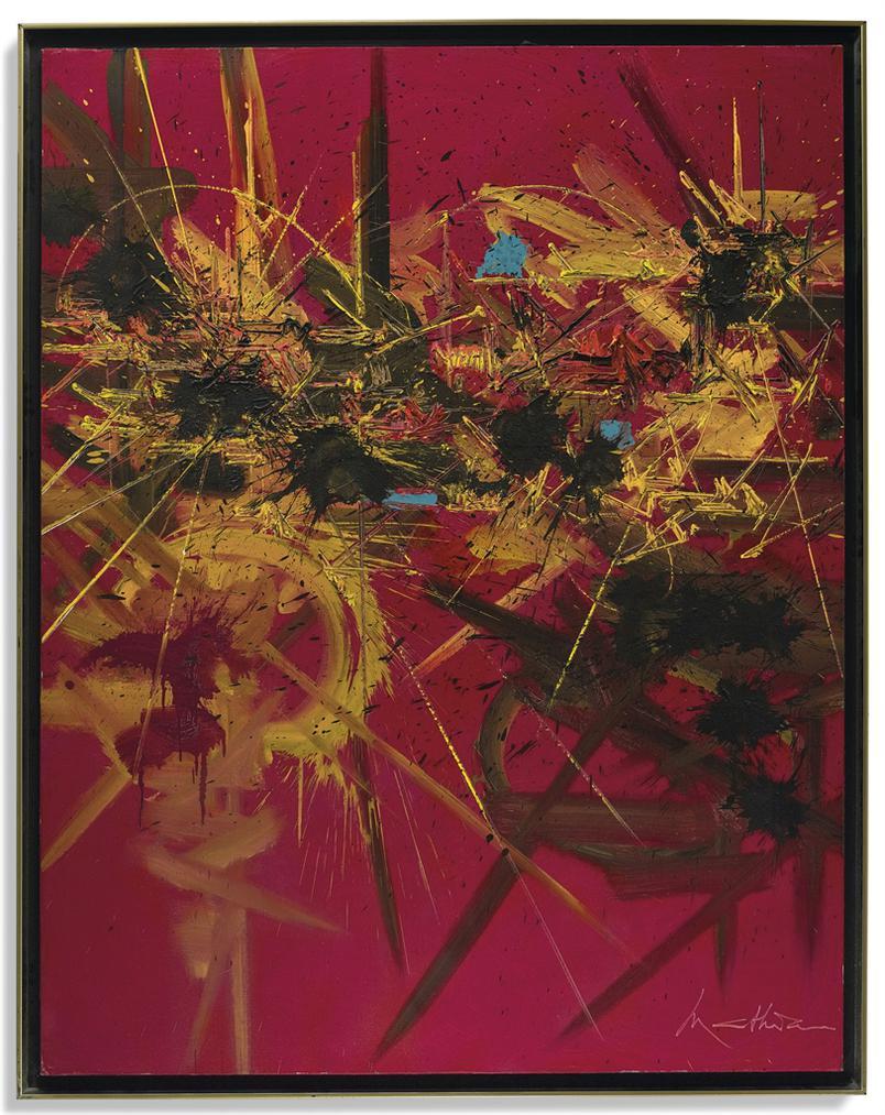 Georges Mathieu-Fleurs Vermeilles-1988