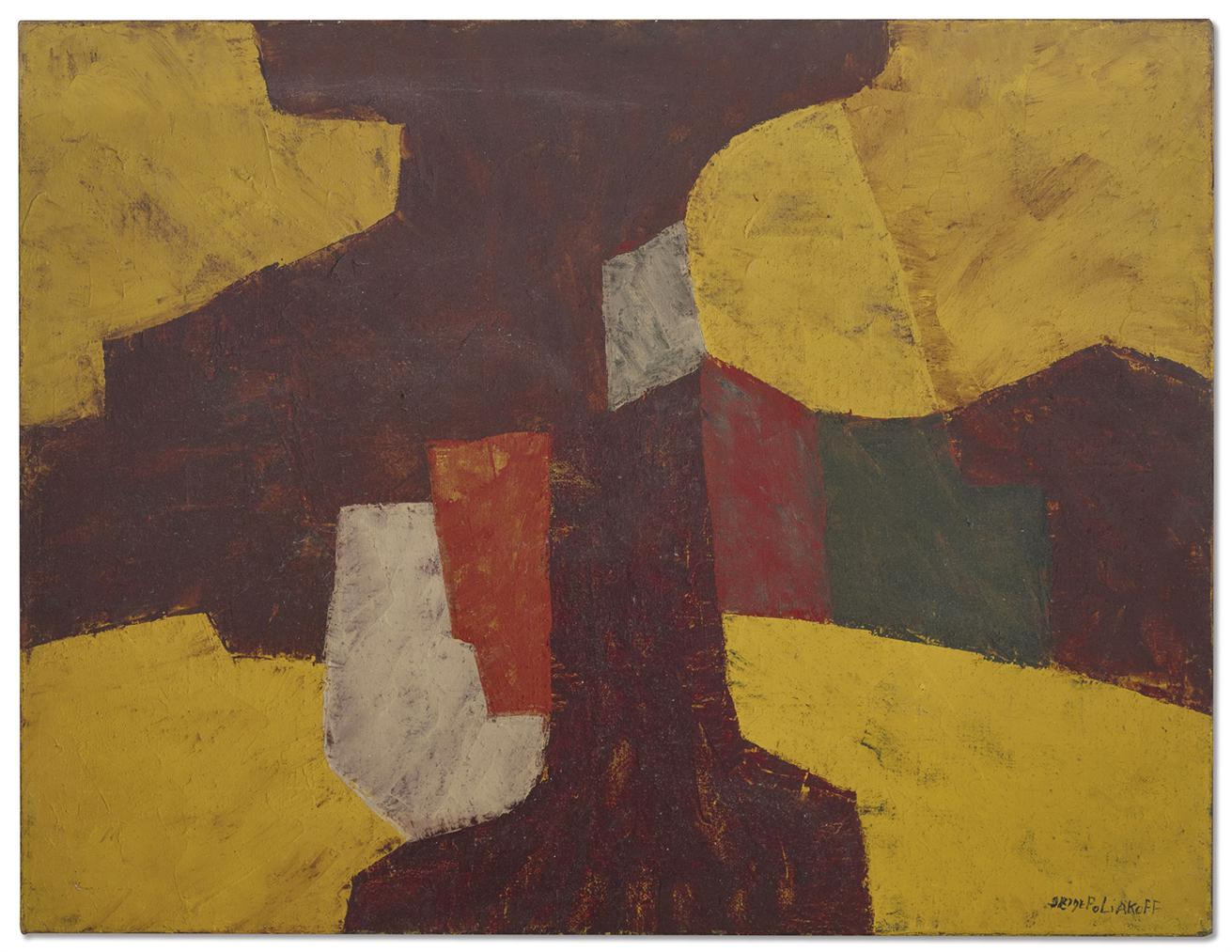 Serge Poliakoff-Composition Abstraite-1957