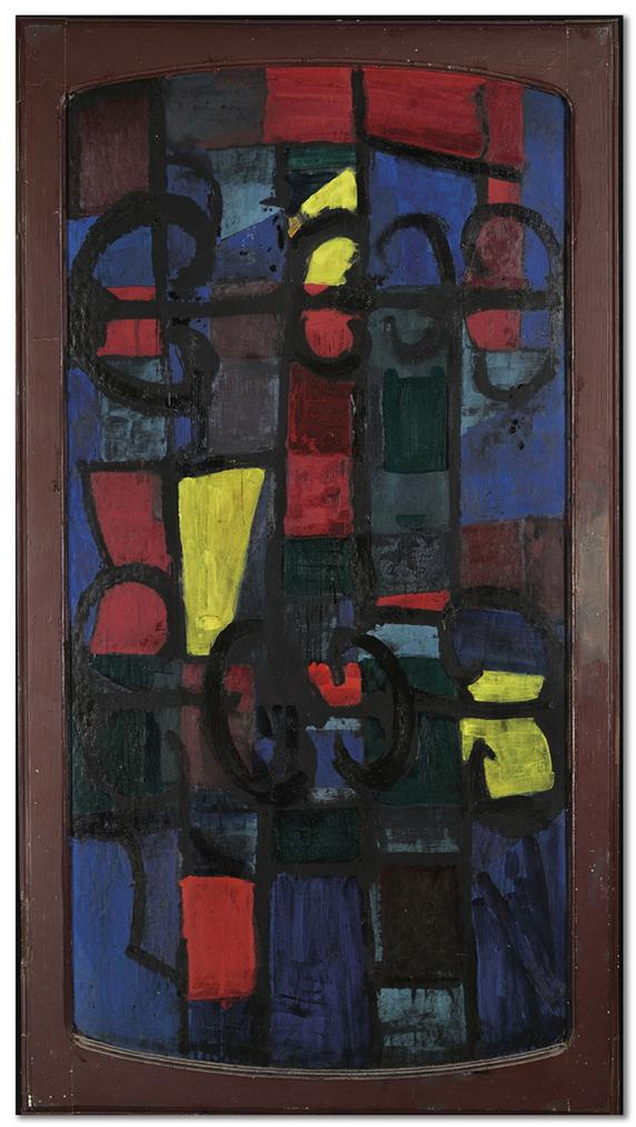 Serge Poliakoff-Decor Dinspiration Folklorique Russe-1962