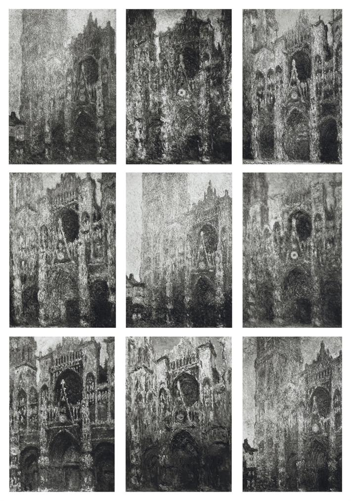 Sherrie Levine-Cathedral: 1-9, After Monet-1995