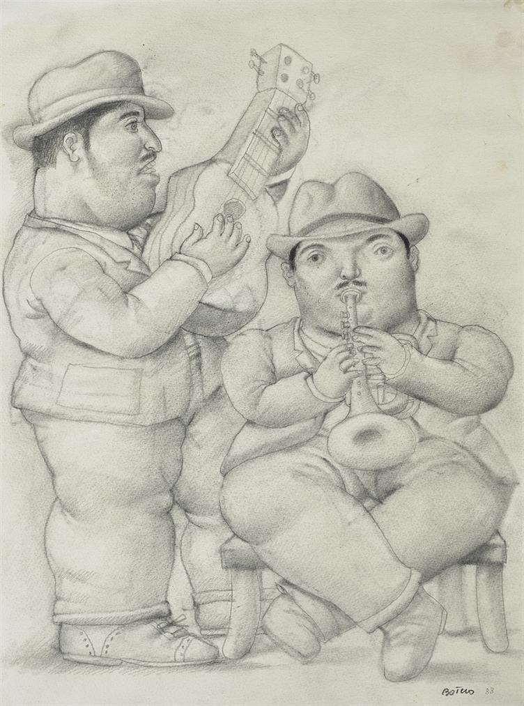 Fernando Botero-Sans Titre-1988