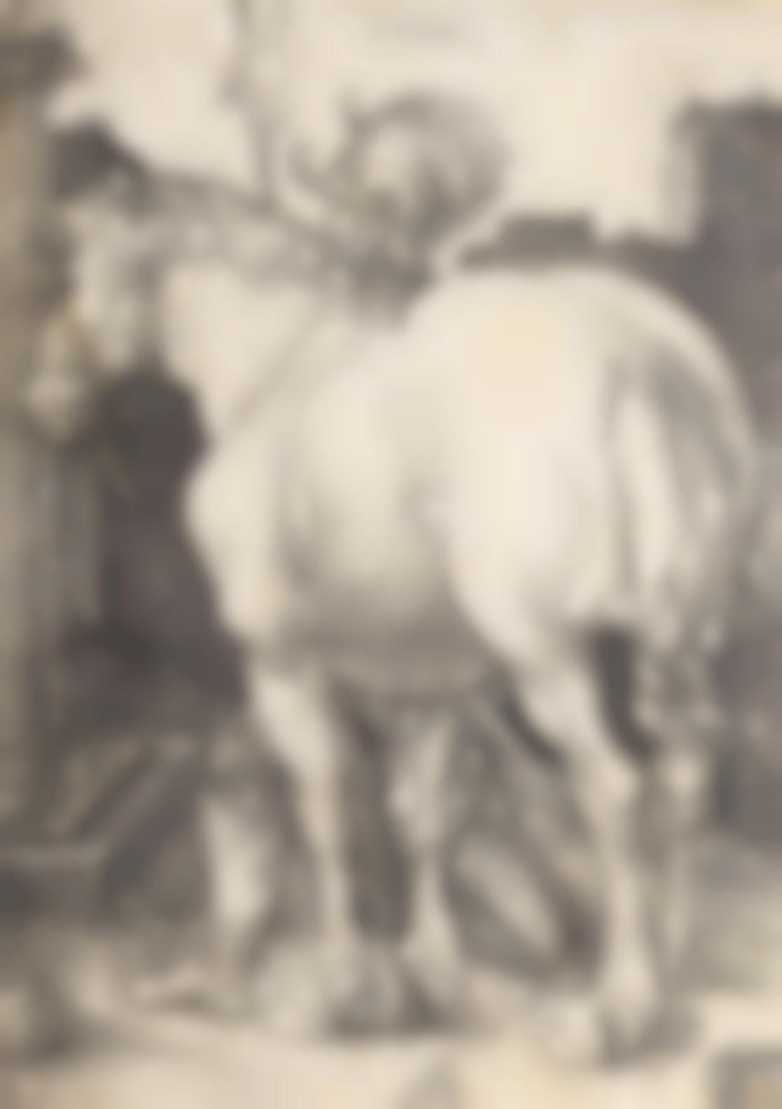 Albrecht Durer-The Large Horse (Bartsch 97; Meder, Hollstein 94; Schoch, Mende And Scherbaum 43); The Small Horse (B. 96; M., Holl. 93; S.M.S. 42); Coat of Arms with a Lion and Rooster (B. 100;M., Holl. 97; S.M.S. 35)-1505