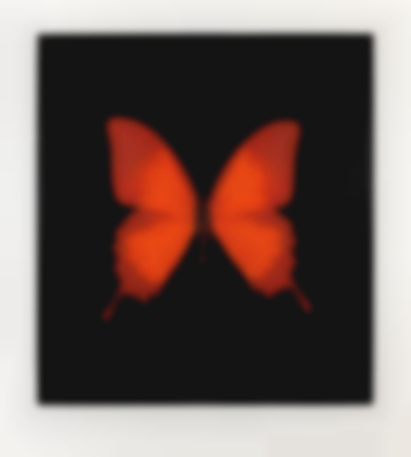 Damien Hirst-Red Butterfly, From The Souls On Jacobs Ladder Take Their Flight-2007