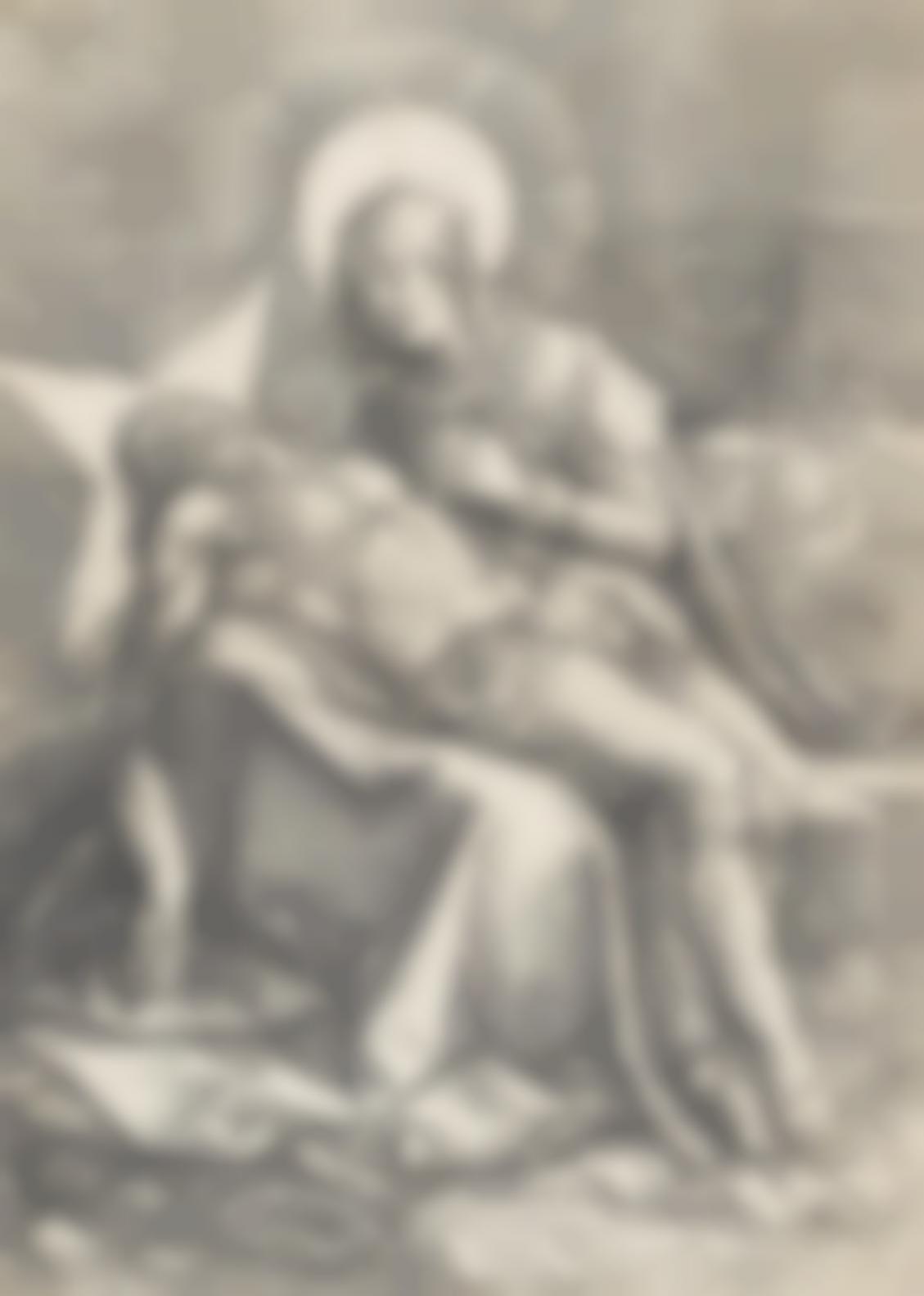 Hendrick Goltzius-Pieta (Bartsch 41; Hollstein 50; Strauss 331; New Hollstein 31)-1596