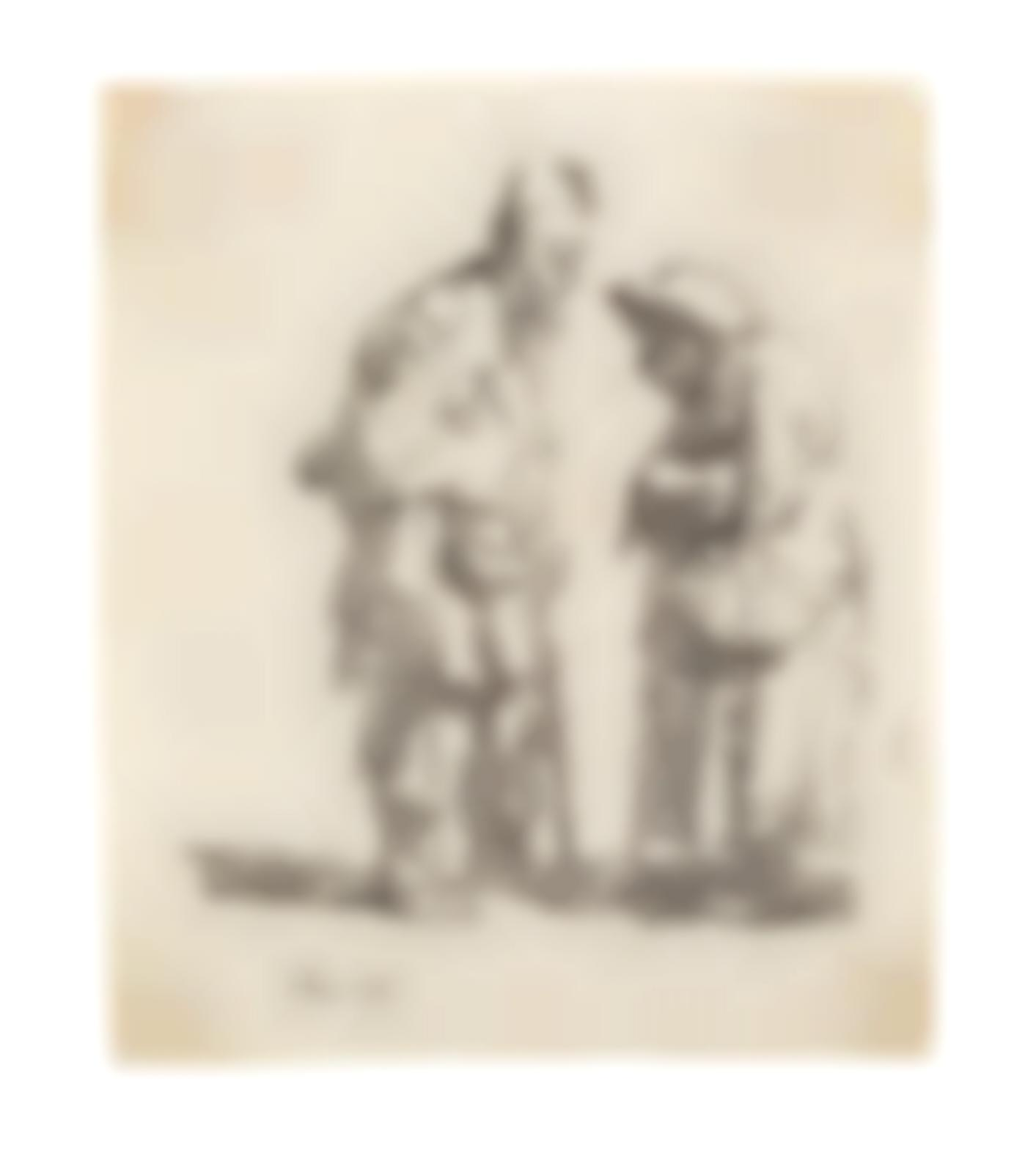 Rembrandt van Rijn-Beggar Man And Woman Conversing (Bartsch 164; New Hollstein 45)-1630