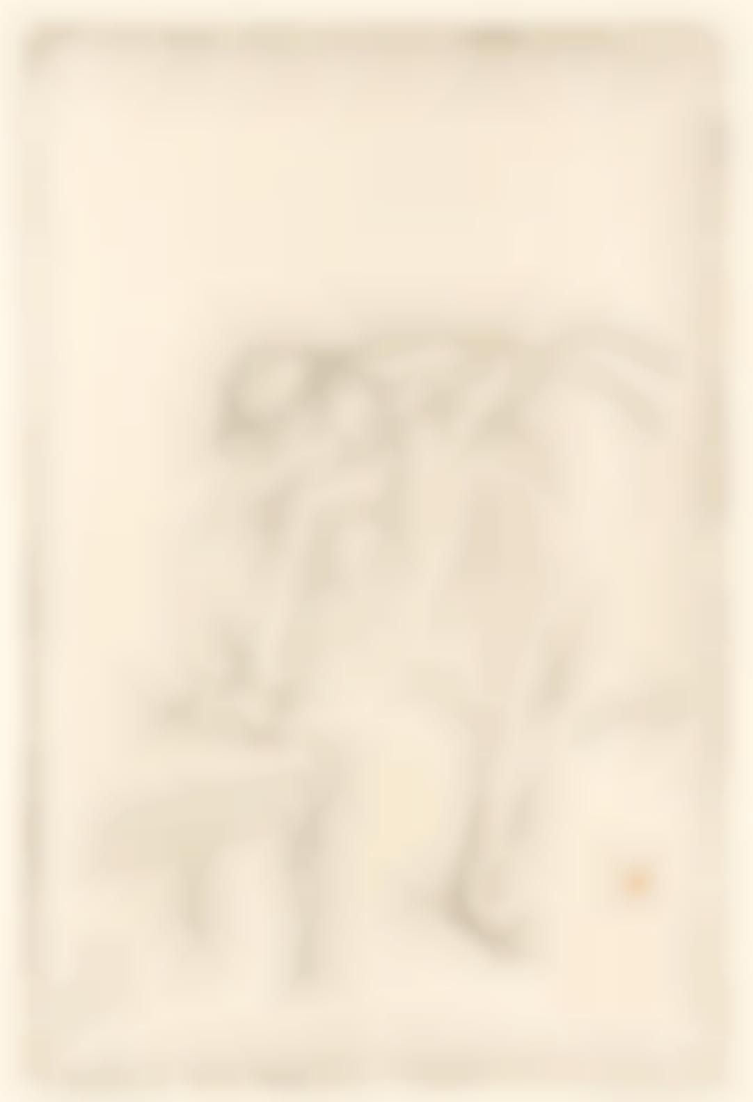 Edgar Degas-Danseuse Mettant Son Chausson (Delteil 36; Adhemar 60; Reed & Shapiro 55); a Rade (Paysage de Grece) (D.10; A.1; R.&S.1;)-1888