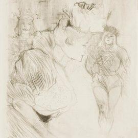 Henri de Toulouse-Lautrec-Lender Saluant(Delteil 107; Adhemar 130; Wittrock 106)-1895