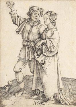 Albrecht Durer-The Peasant And His Wife (Bartsch 83; Meder, Hollstein 86; Schoch, Mende And Scherbaum 14); The Cook and his Wife (B. 84; M., H. 85; S.M.S. 13)-1497