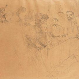 Henri de Toulouse-Lautrec-Proces Lebaudy, Deposition De Mademoiselle Marcy (Delteil 194; Adhemar 191; Wittrock 152)-1896