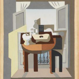 Pablo Picasso-After Pablo Picasso - Compotier, Partition, Bouteille Et Guitare Devant Une Fenetre-1920