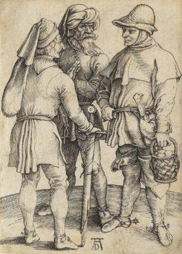 Albrecht Durer-Three Peasants In Conversation (Bartsch 86; Meder, Hollstein 87; Schoch, Mende And Scherbaum 15)-1497