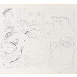 Pablo Picasso-Minotaure Caressant Une Femme, From La Suite Vollard (Bloch 191; Baer 350)-1933