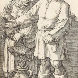 Albrecht Durer-The Peasant And His Wife At Market (Bartsch 89; Meder, Hollstein 89; Schoch, Mende And Scherbaum 88)-1519