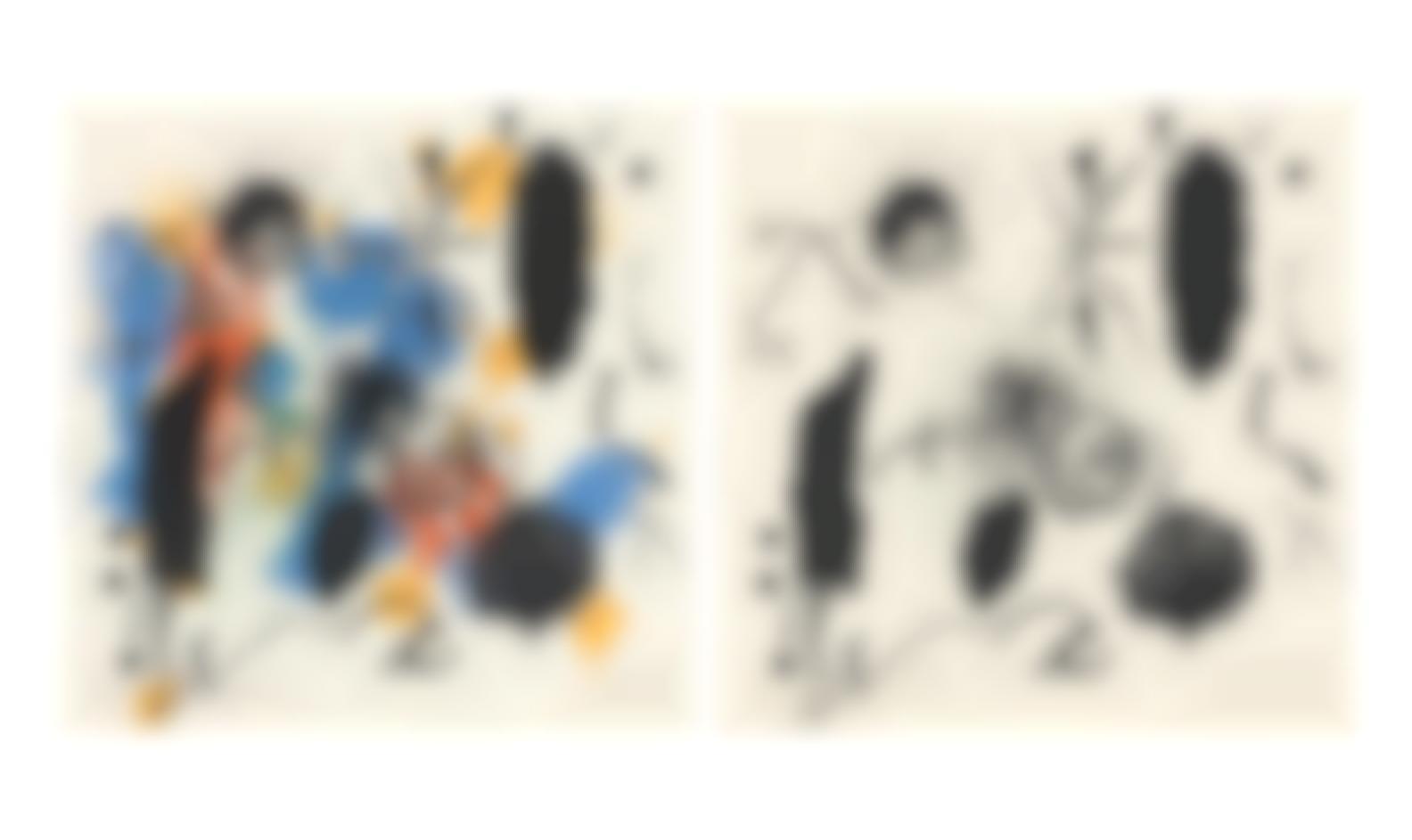Joan Miro-Two Plates, From Je Travaille Comme Un Jardinier (Mourlot 413, 417; Cramer Books 90)-1964