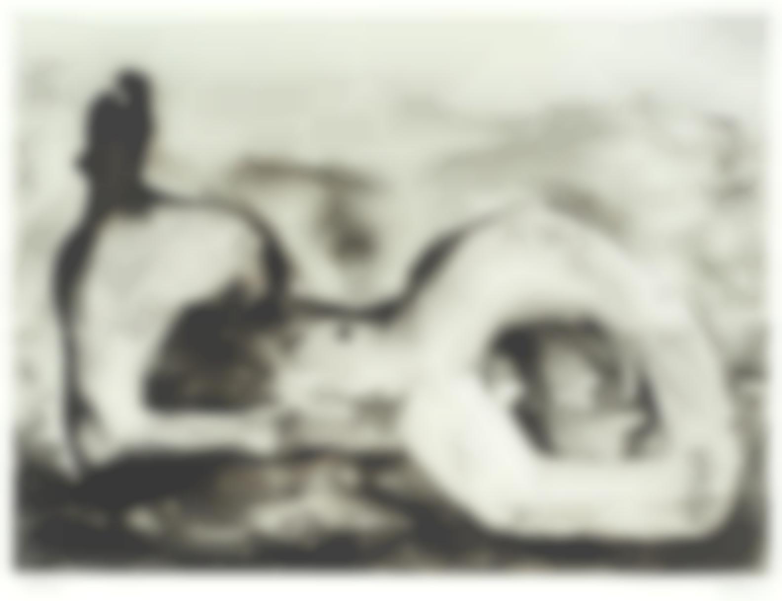 Henry Moore-Reclining Figure - Cave (Cramer 542)-1979