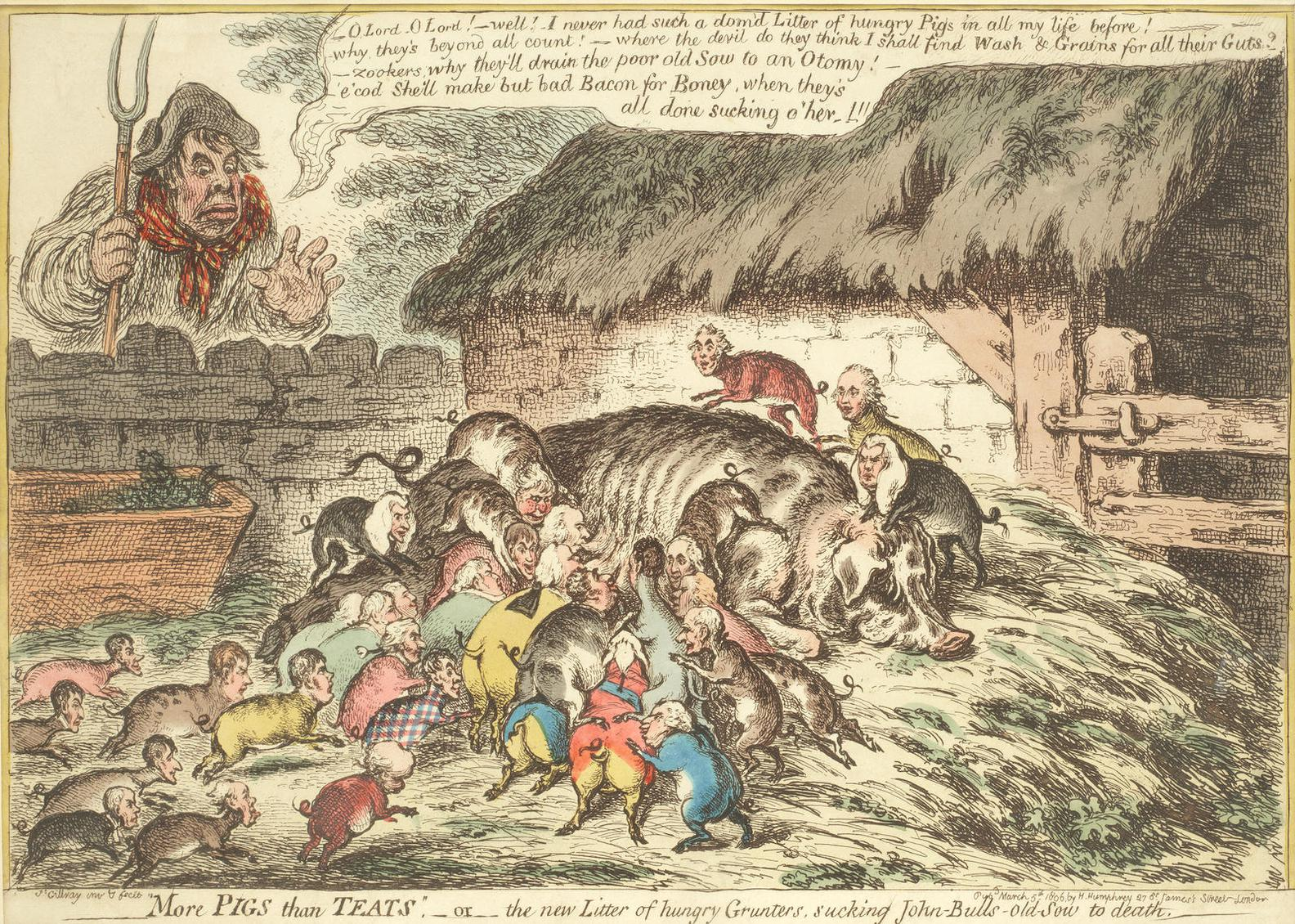 James Gillray-More Pigs Than Teats-1806