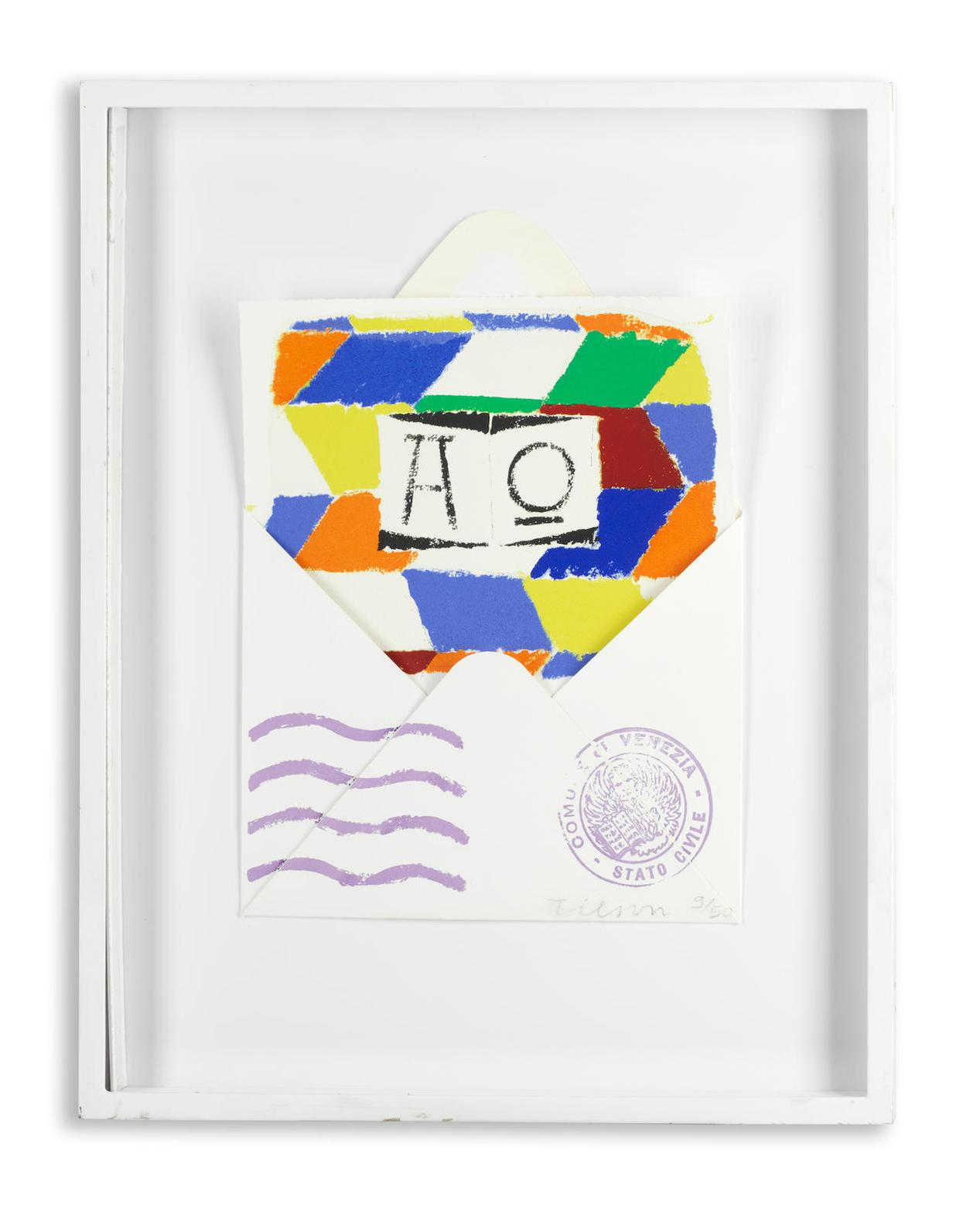 Joe Tilson Ra - Postcard From Venice-