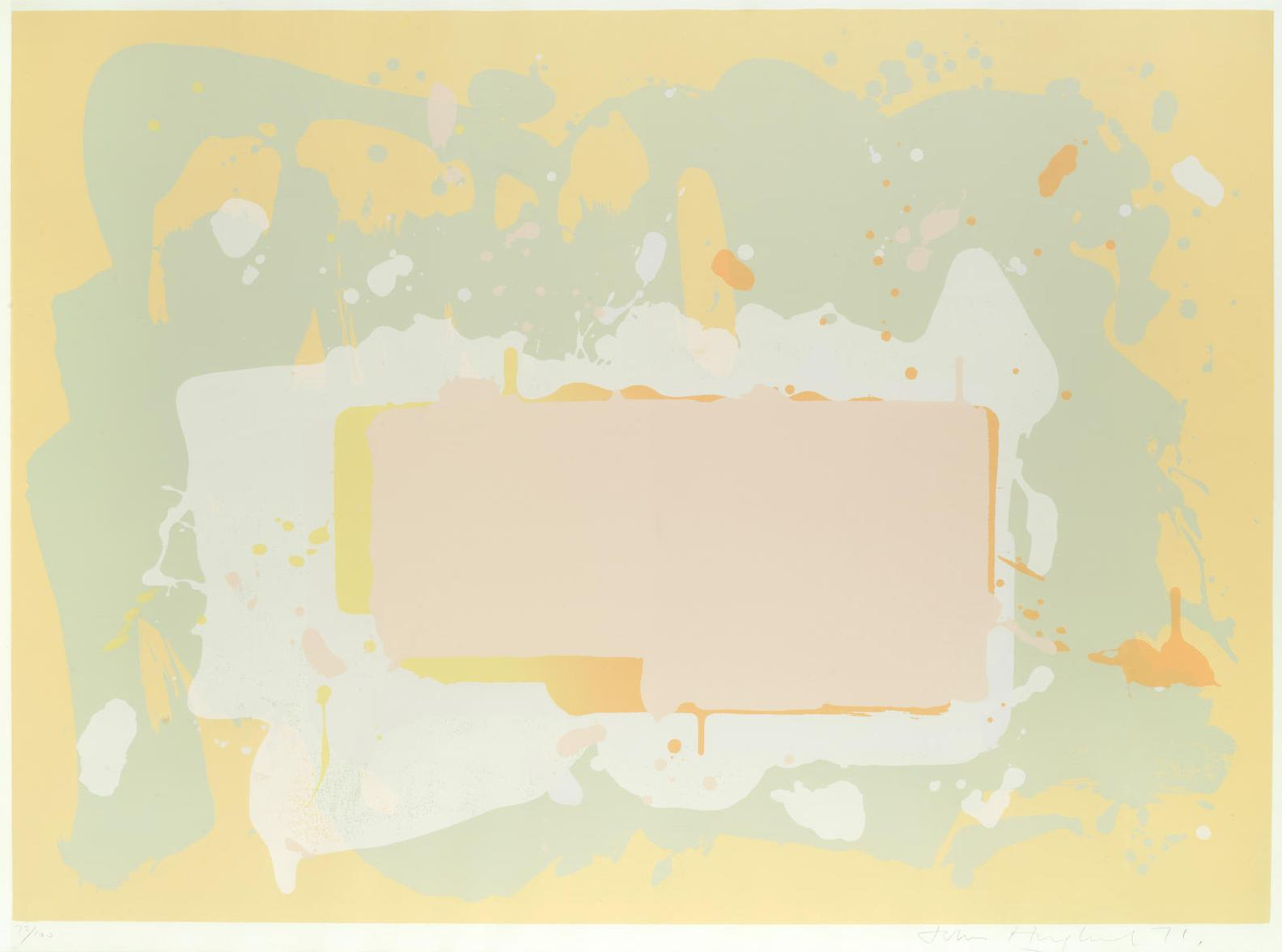 John Hoyland-Yellow And Pink, From The New York Suite-1971