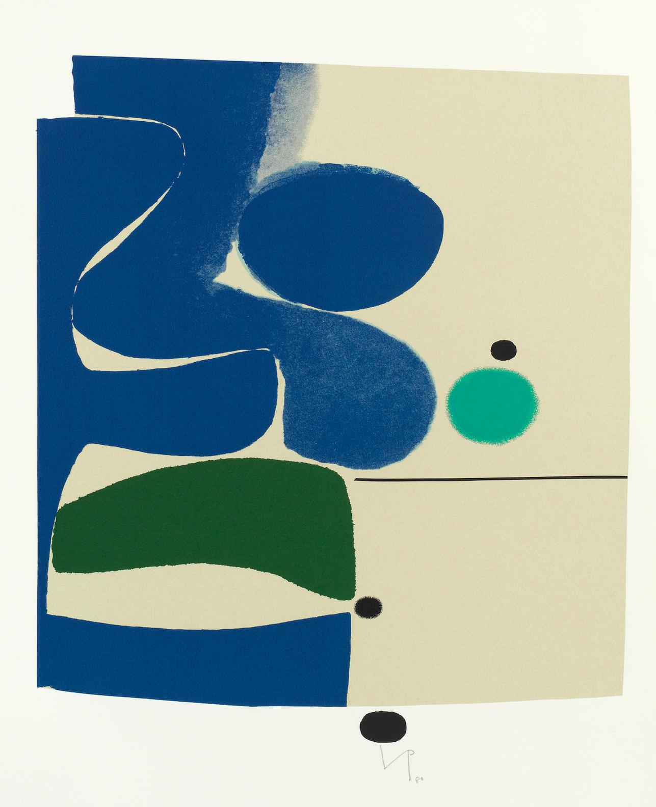 Victor Pasmore-Blue Movements And Green-1980